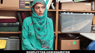 Shoplyfter - Hot Muslim Teen Fescennine & Harassed