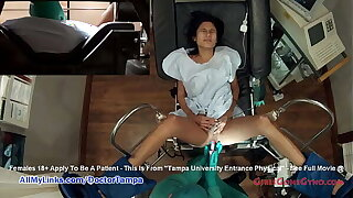 Shy Latina Alexa Chang's Exam Caught On Place off limits Cameras By Doctor Tampa @ GirlsGoneGyno.com - Tampa College Energetic