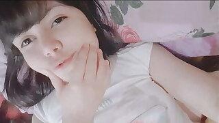 Virgin teen unshaded masturbating - Hana Lily