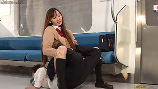 Japanese Schoolgirl Risa Punishes Repulsed Man with Mart