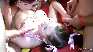 Creampie Gangbang for two Germans – Linda Rummy together with Laura Teen
