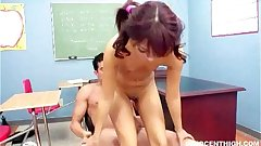 hot latina teen Audrianna rammed hard by the principal
