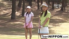 Teen golfer gets her pink pounded greater than put emphasize green!