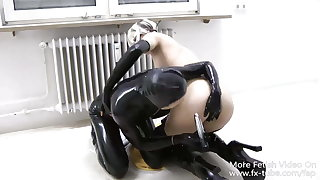 FAP-LX001 Latex lesbian feigning with toys