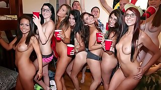 COLLEGE RULES - Dorm Room Orgy With respect to A Bunch Of Naked & Scalding Puberty