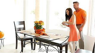Passion-HD - Guy fucks his move daughter Carolina Sweets insusceptible to Thanksgiving