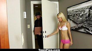 TeenPies - Skinny Blonde Gets Cream Be full