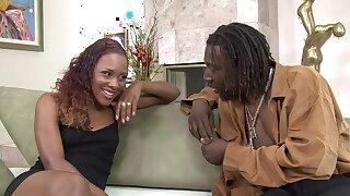 Tantalizing Ebony Golddigger Creampied By Obese BLACK Bushwa