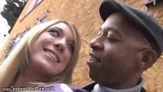 Raunchy streetwalker Amy Brooke crazy interracial sex