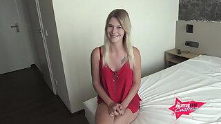 Lara is finally 18! First Sex Casting