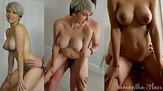 Short haired spoil fucked all over the bedroom off out of one's mind daddy