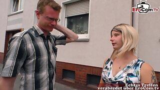 Familiar young German blonde next door – housewife sex
